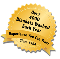 Over 5000 Blankets Washed Each Year